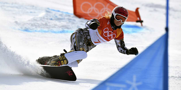 Ester Ledecka en or en snowboard, après son titre en Super-G alpin