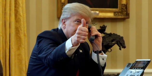 Donald Trump à la Maison-Blanche à Washington le 29 janvier 2017.