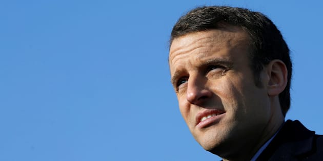 Emmanuel Macron, en déplacement de campagne à Montlouis-sur-Loire le 10 février 2017.