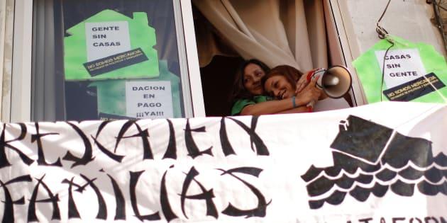 Protesta de la Plataforma de Afectados por la Hipoteca. REUTERS/Jon Nazca