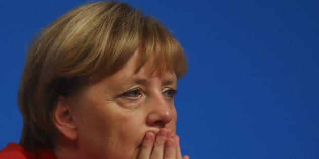 La chancelière Angela Merkel assistant à une convention de son parti, la CDU, à Essen le 6 décembre 2016