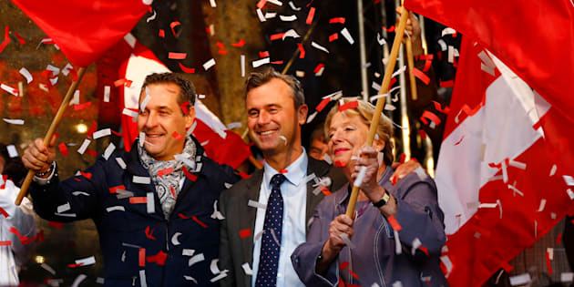 Austrian far right Freedom Party (FPOe) presidential candidate Norbert Hofer at a a final election rally in Vienna, Austria, May 20, 2016.
