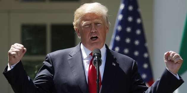 Donald Trump, durante una rueda de prensa ofrecida en la Casa Blanca, en abril pasado.