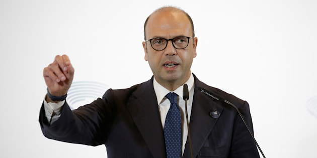 Italy's Foreign Minister Angelino Alfano talks during a news conference at the end of a G7 for foreign ministers in Lucca, Italy April 11, 2017. REUTERS/Max Rossi