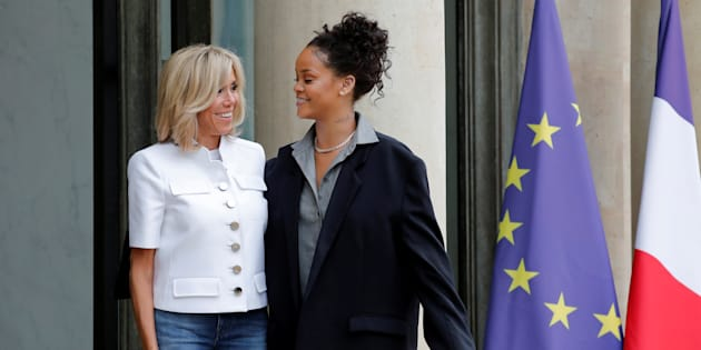 Les internautes recherchent le propriétaire de la veste que portait Rihanna à l'Élysée