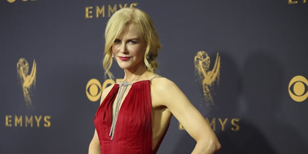 Nicole Kidman at the 69th Primetime Emmy Awards in Los Angeles, California, Sept. 17, 2017. (REUTERS/Mike Blake)