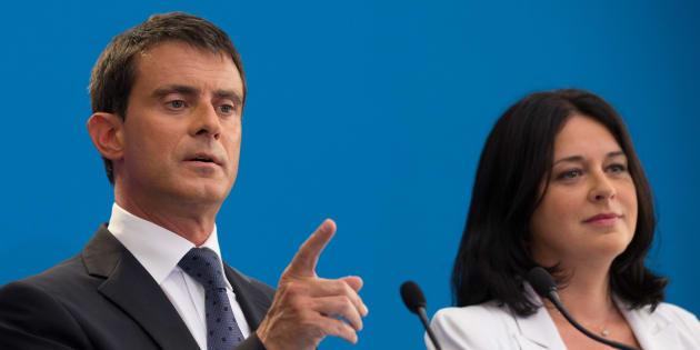 Silvya Pinel en compagnie de Manuel Valls en août 2014.