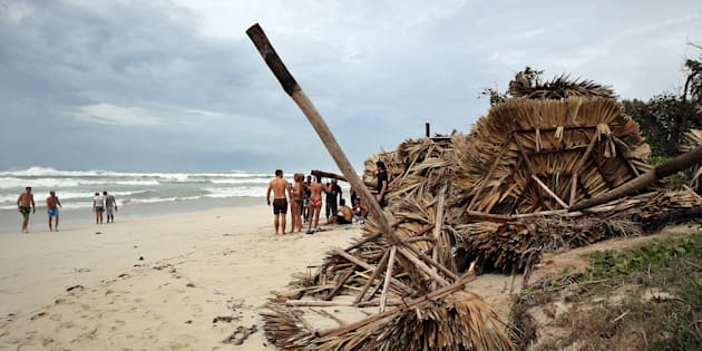 Destrozos del huracán Irma a su paso por la playa de Varadero (Cuba).