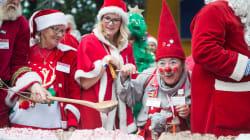 Santas Everywhere Unite For the World Santa Claus