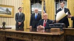 Trump ya imprimió su estilo a la Oficina