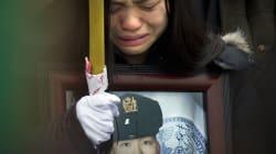 La femme d'un policier tué accouche de leur enfant trois ans après sa