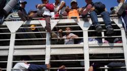 Migrantes viajan en condiciones inhumanas y riesgosas rumbo a la