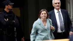 La présidente du parlement catalan libérée de prison après avoir versé une caution de 150.000