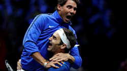 Everyone Is Losing It Over Rafael Nadal Jumping Into Roger Federer's Joyous