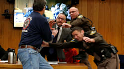Father Of 3 Girls Abused By Larry Nassar Tries To Attack Him In