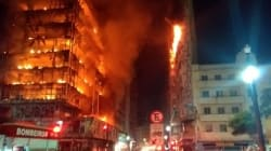 Brazil Highrise's Fiery Collapse Captured On