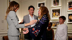 Justin Trudeau And Family Meet Melania Trump Before Invictus