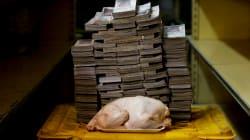 📷 La crisis soberana de Venezuela: así se ve en billetes un kilo de