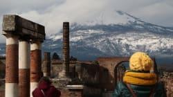Emergenza meteo: ciliegi in fiore, ma Vesuvio