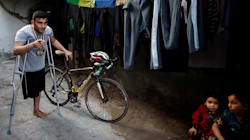 Una bala israelí destruye el sueño de un ciclista que iba a competir en los Juegos de
