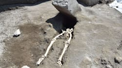 Skeleton Found In Pompeii Of Man Crushed While Trying To Flee