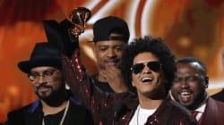 Bruno Mars roi des Grammy Awards