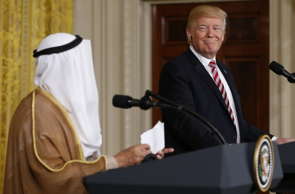 Image result for Trump willing to mediate in Qatar crisis, US President Donald Trump h
