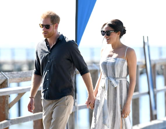 Meghan breaks royal protocol with a thigh-high slit