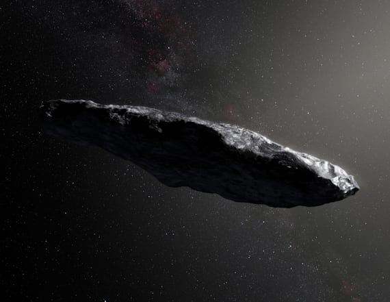 Astronomers find home of strange cigar-shaped object