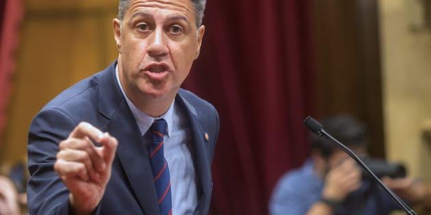 El líder del PPC, Xavier García Albiol, el pasado día 10 en el Parlament catalán.