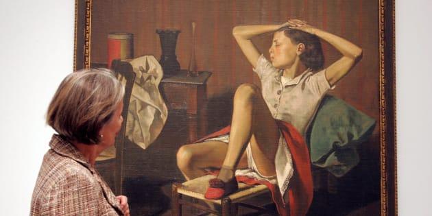 """L'oeuvre de Balthus, exposée au MET Museum  """"Thérèse rêvant"""" fait polémique depuis quelques jours."""