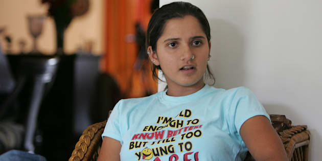 MUMBAI, INDIA - SEPTEMBER 9, 2009: Tennis Player Sania Mirza. (Photo by Soumitra Ghosh/Hindustan Times via Getty Images)