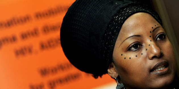 Criselda Kananda, a South African radio personality and Aids activists in Johannesburg.