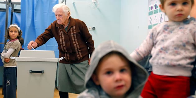 Hungarians vote in a referendum on the European Union's migrant quotas in the village of Roszke near the Serbian border, Hungary, October 2, 2016.