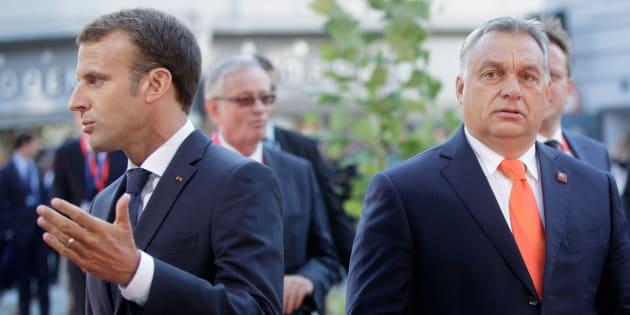 Emmanuel Macron et Viktor Orban