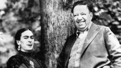 Así apreciaron Frida y Diego un eclipse solar hace 85 años en