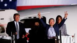 Donald Trump accueille lui-même les Américains libérés de la Corée du