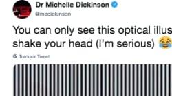 Esta ilusión óptica en la que debes mover la cabeza está volviendo loca a la