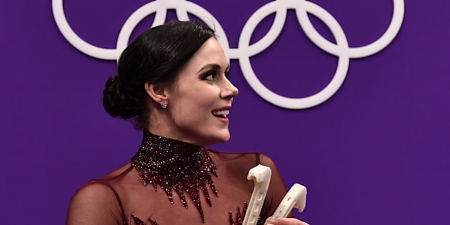 Canada's Tessa Virtue, the new face of Nivea Canada, after competing in the free dance during the PyeongChang Olympics on Feb. 20, 2018.