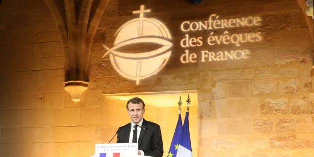 Quel catholique est Emmanuel Macron, qui s'exprime ici en avril devant la Conférence des évêques de France?