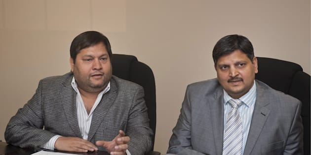 Indian businessmen, Ajay Gupta and younger brother Atul Gupta.  Photo by Gallo Images/Business Day/Martin Rhodes