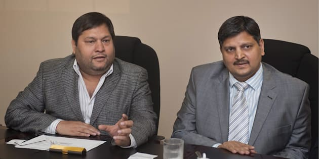 Ajay Gupta and younger brother Atul Gupta. Johannesburg, March 2, 2011.