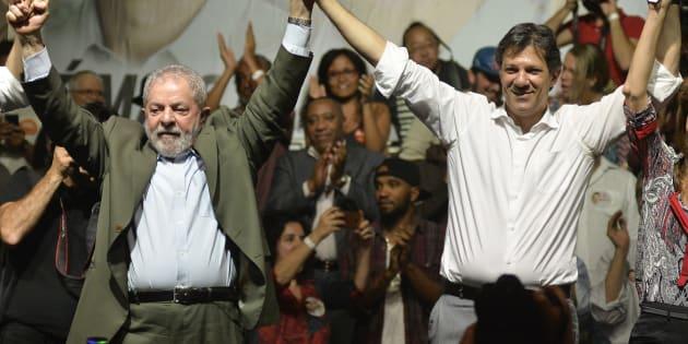 Lula e Haddad, em evento em 2016.