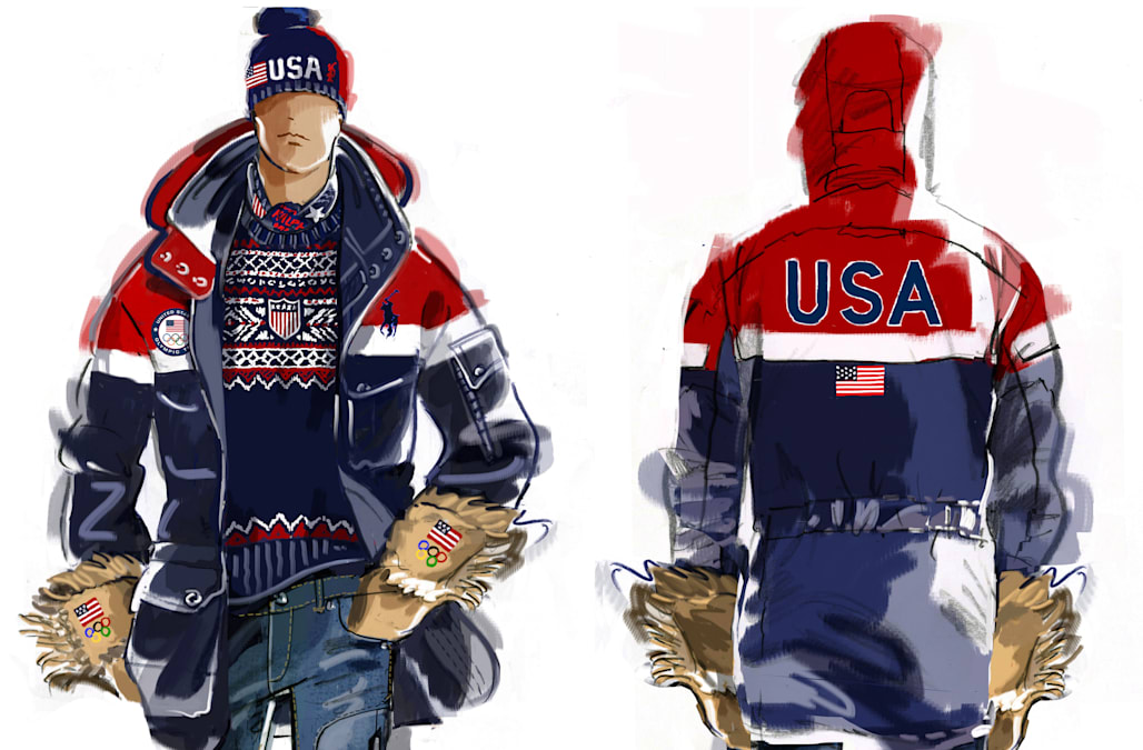 Team USA reveals their 2018 Olympic opening ceremony uniforms designed by Ralph Lauren - AOL ...