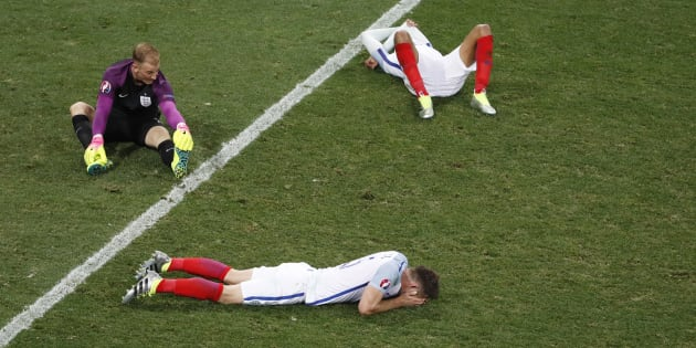 England was left seeking comfort from the turf.