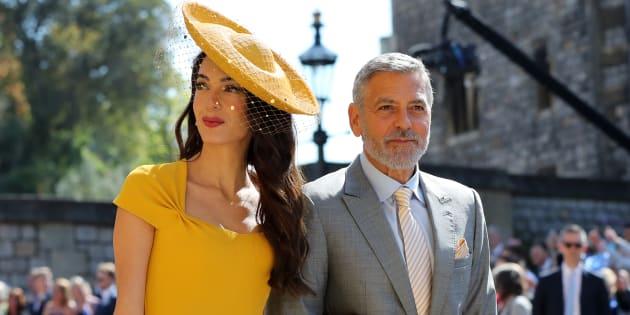 Amal Clooney et George Clooney au mariage du prince Harry et de Meghan Markle.
