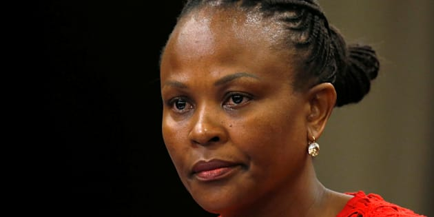 Public Protector Busisiwe Mkhwebane in Parliament in Cape Town, South Africa, in October 2016.