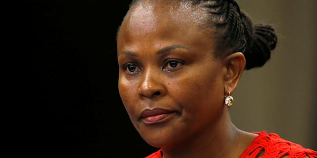 Public Protector Busisiwe Mkhwebane listens during a briefing at Parliament in Cape Town, South Africa October 19, 2016. Picture taken October 19, 2016. REUTERS/Mike Hutchings