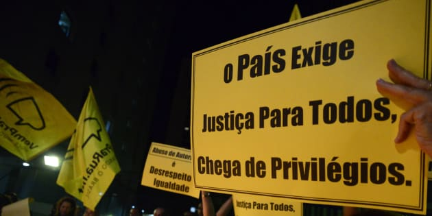 Manifestação contra a corrupção em São Paulo, em março de 2017.