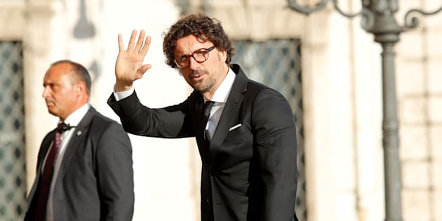 Italy's Minister of Infrastructure and Transport Danilo Toninelli arrives for gala dinner at the Quirinal palace in Rome, Italy, June 1, 2018.  REUTERS/Remo Casilli